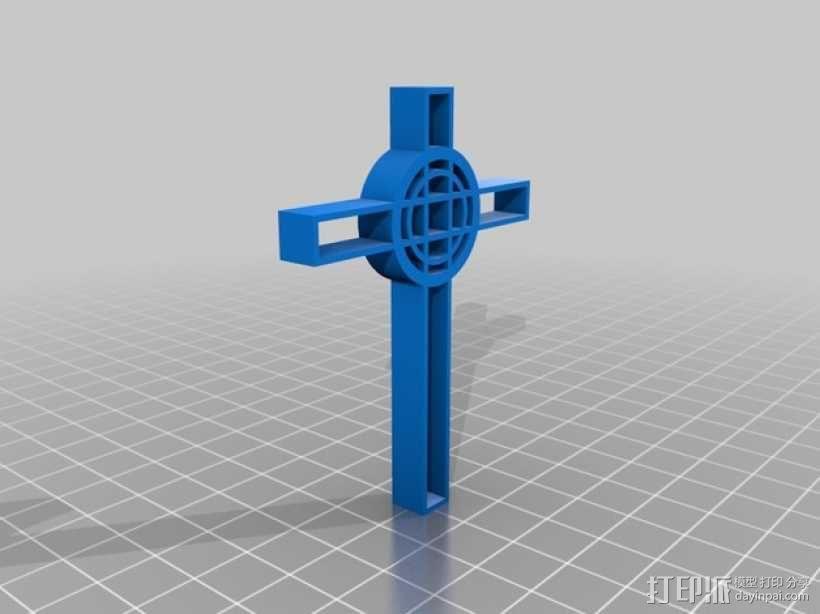 凯尔特十字架吊坠 3D模型  图1