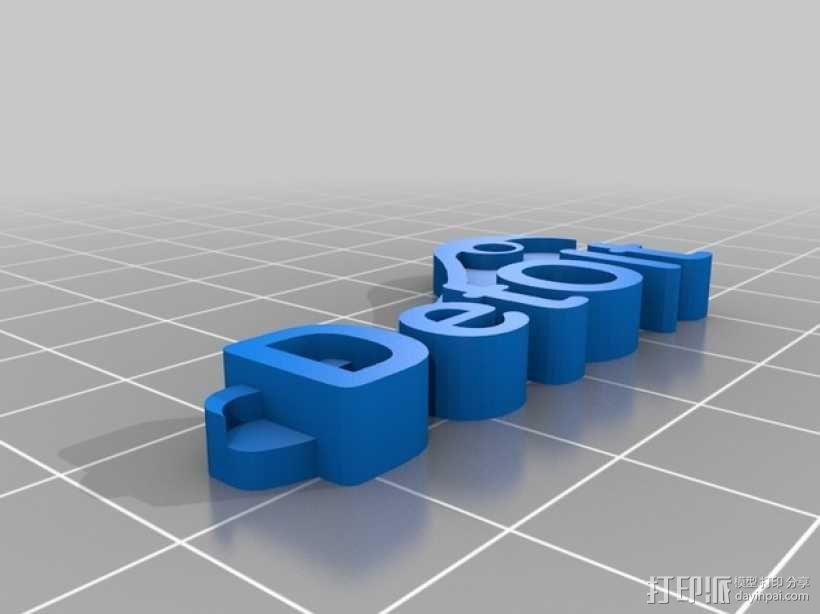 钥匙标签 3D模型  图2