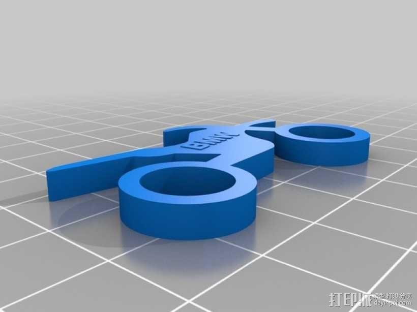 BMW摩托车钥匙扣 3D模型  图1