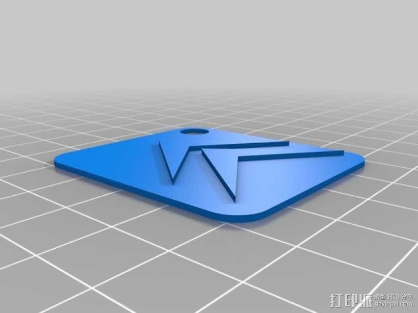 Llavero citroen雪铁龙标志 钥匙扣 3D模型  图1