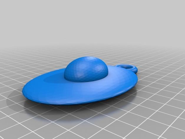 鸡蛋挂件 3D模型  图1