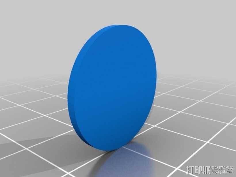 青灯军团戒指 3D模型  图2