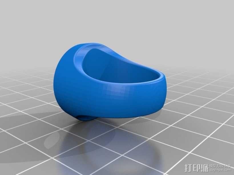 青灯军团戒指 3D模型  图3