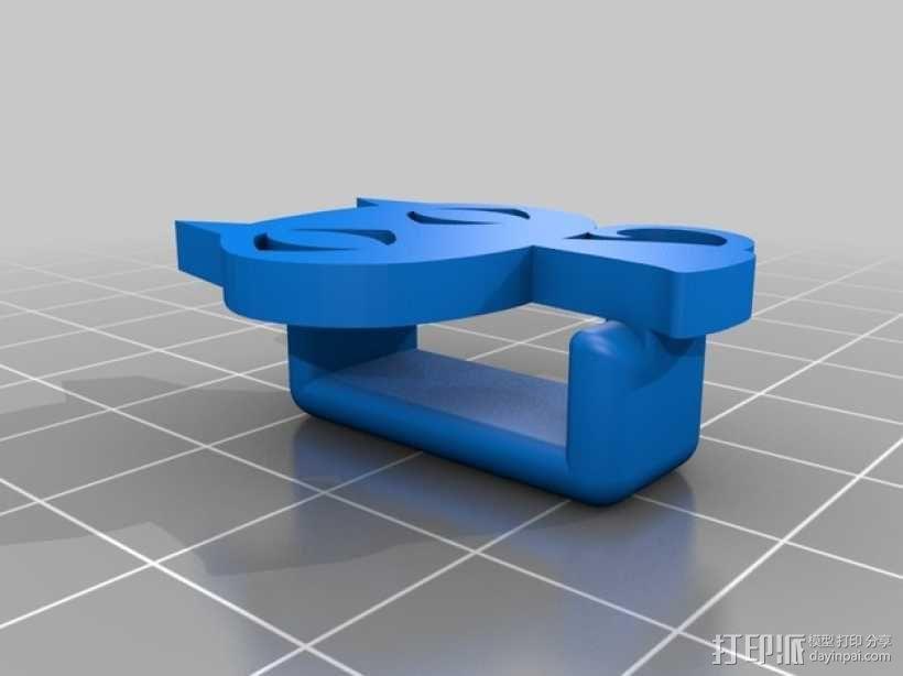 Kitty猫 皮带环 3D模型  图2