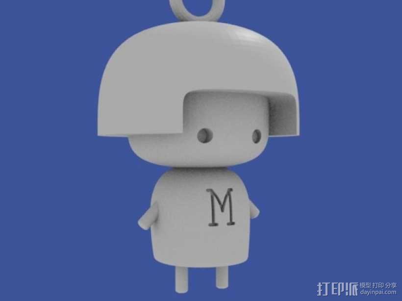 María娃娃 挂饰 3D模型  图2