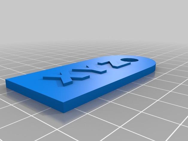 标签 钥匙扣 3D模型  图2