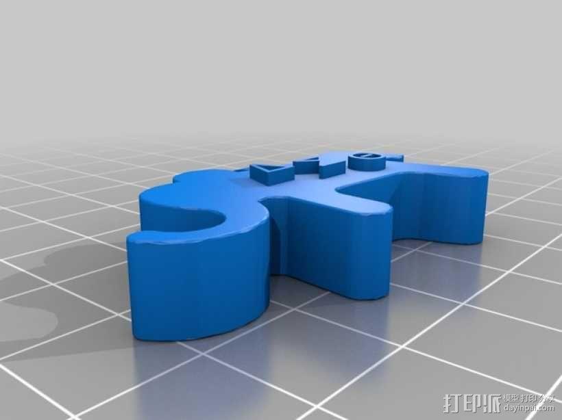 大象吊坠 3D模型  图2