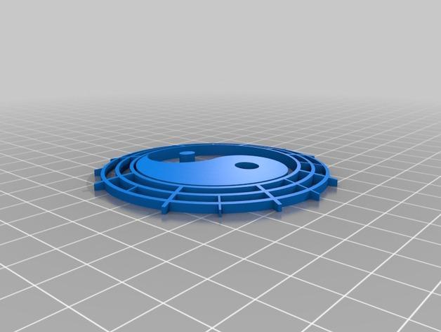 太极 挂件 3D模型  图2