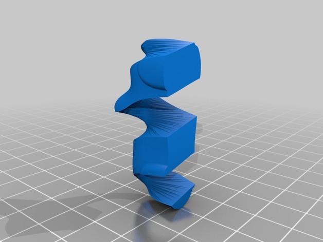 瑞士糖 钥匙扣 3D模型  图2