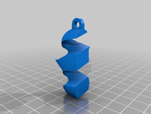 瑞士糖 钥匙扣 3D模型  图3