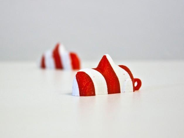 瑞士糖 钥匙扣 3D模型  图4