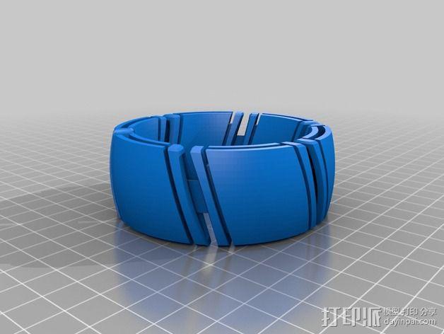 kimekomi可伸缩手镯 3D模型  图5