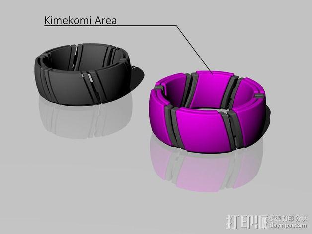 kimekomi可伸缩手镯 3D模型  图4