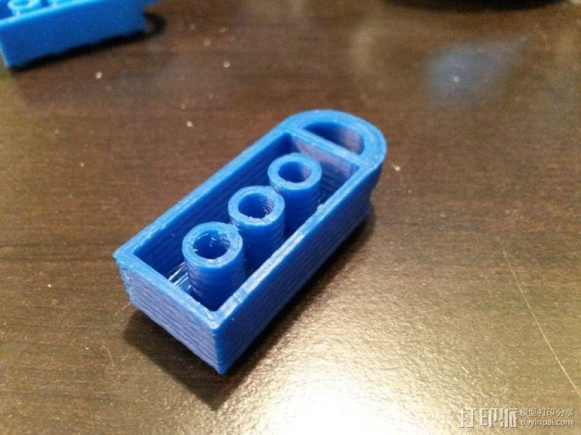 积木挂件 3D模型  图1