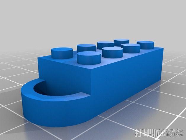 积木挂件 3D模型  图2