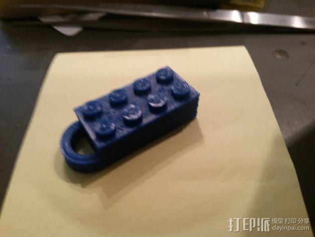 积木挂件 3D模型  图3