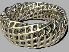 参数化网格手环 3D模型