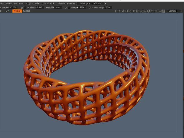 参数化网格手环 3D模型  图3