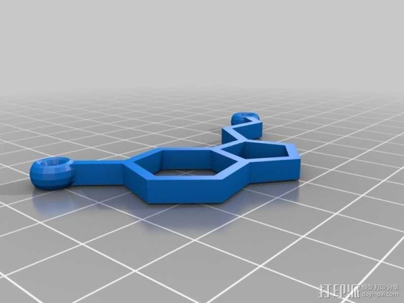 5-羟色胺分子结构 项链坠 3D模型  图1