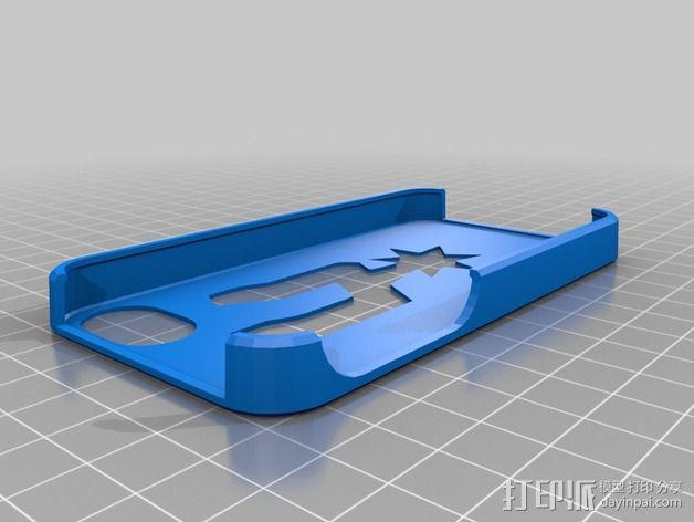 马刺队队标 iphone4s手机壳 3D模型  图1