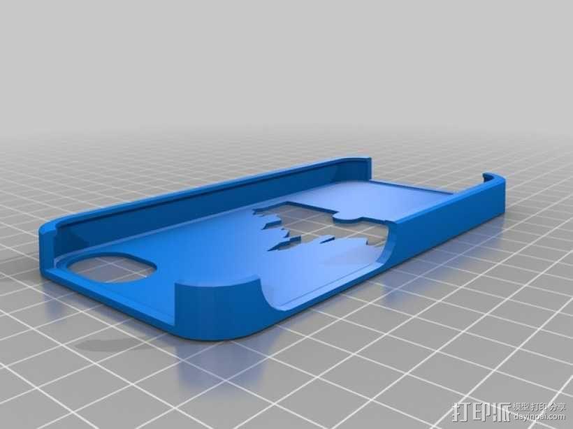 城堡图案iphone 手机保护套 3D模型  图1