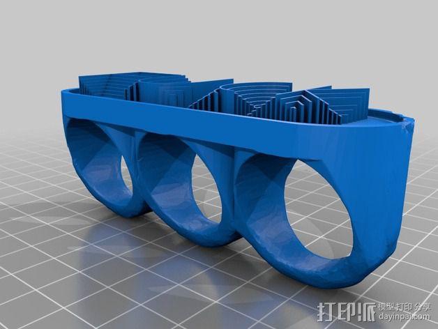 NoMoFcks指节套环 3D模型  图2