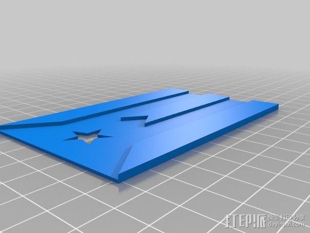 波多黎各国旗 摆件 3D模型  图2