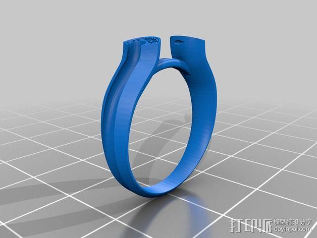 钻石戒指 3D模型  图1