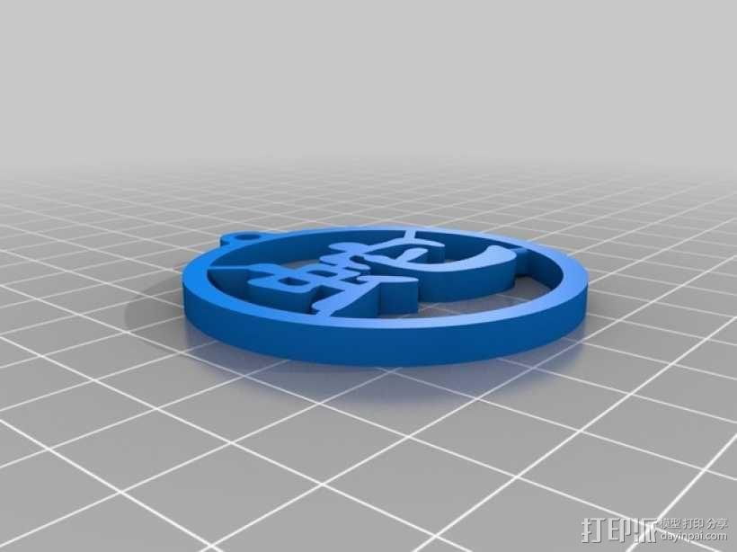 蛇字挂件 3D模型  图1