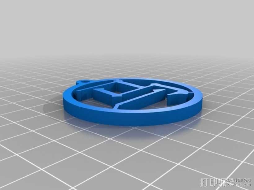 马字挂件 3D模型  图1