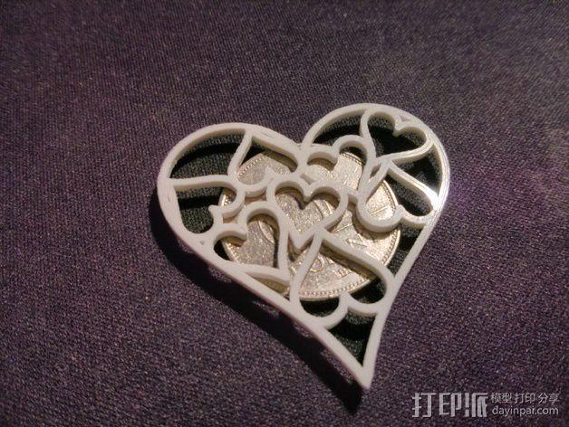 心形挂件 3D模型  图3