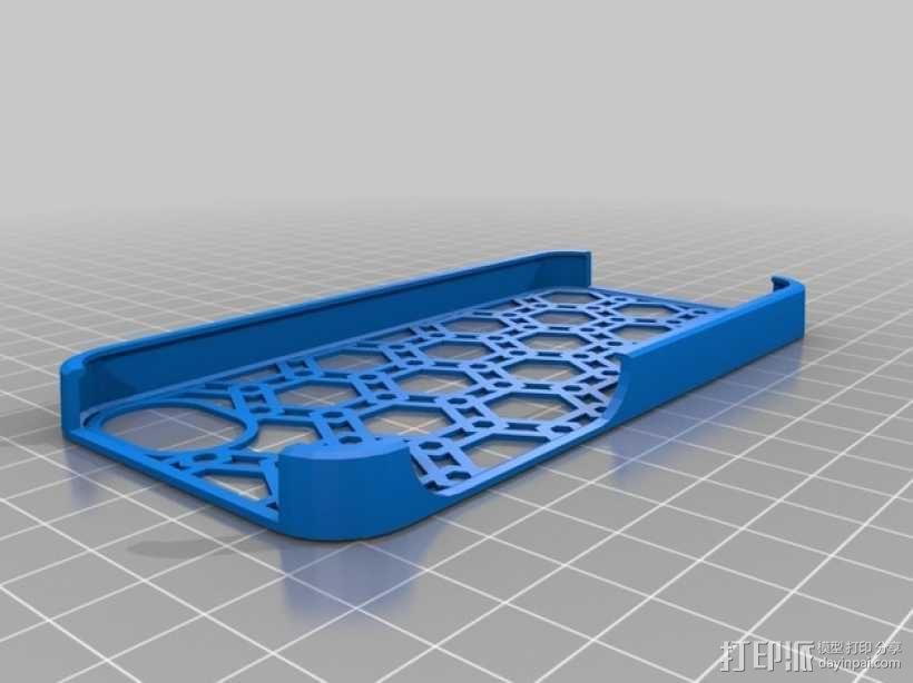 蜂巢图案 iPhone 5S手机壳 3D模型  图2