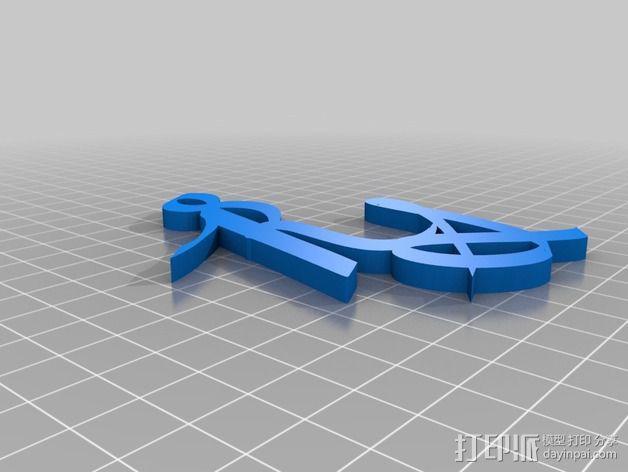 大写字母组合吊坠 3D模型  图8
