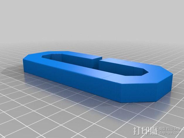 字母C 扁节链 3D模型  图2