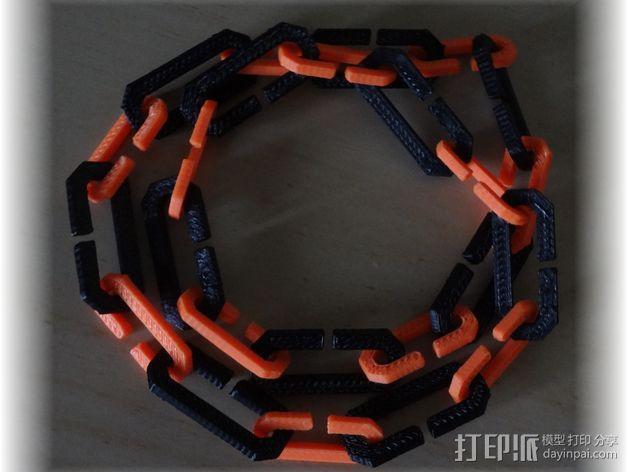 字母C 扁节链 3D模型  图4