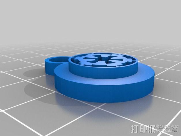 帝国标志 耳坠 3D模型  图1