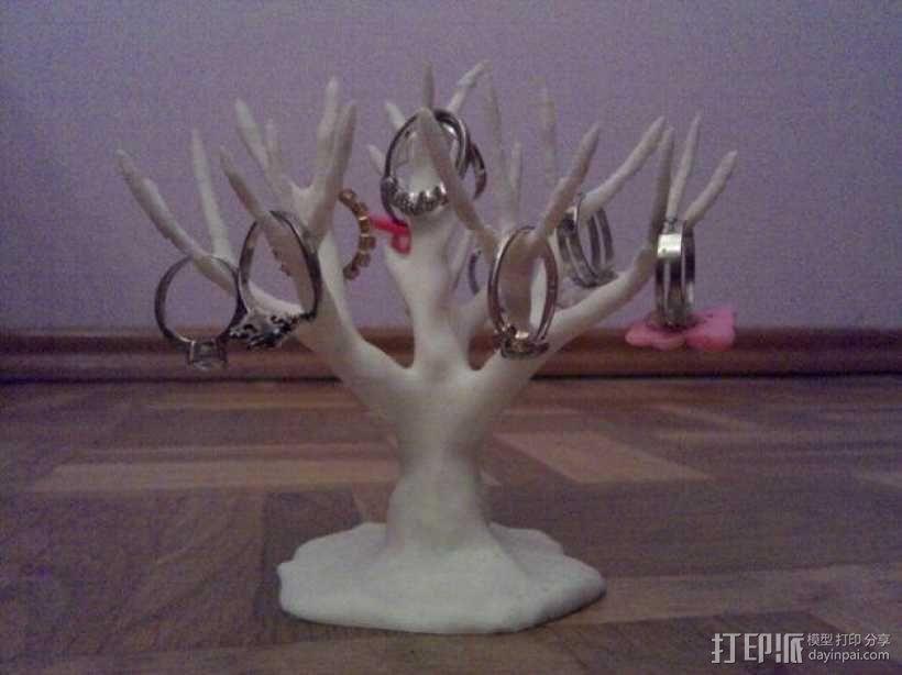 树形首饰架 3D模型  图1