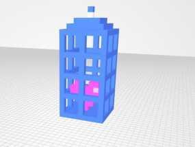 警察亭 耳坠 3D模型