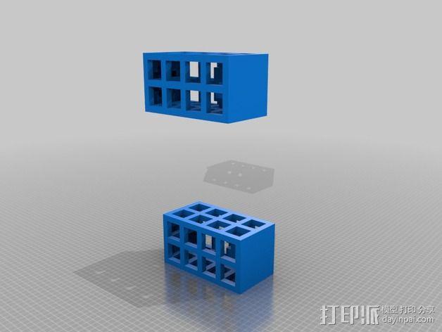 警察亭 耳坠 3D模型  图2