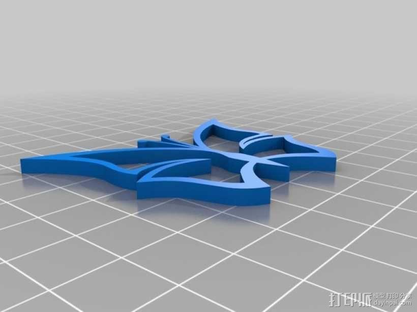 蝴蝶挂件 3D模型  图1