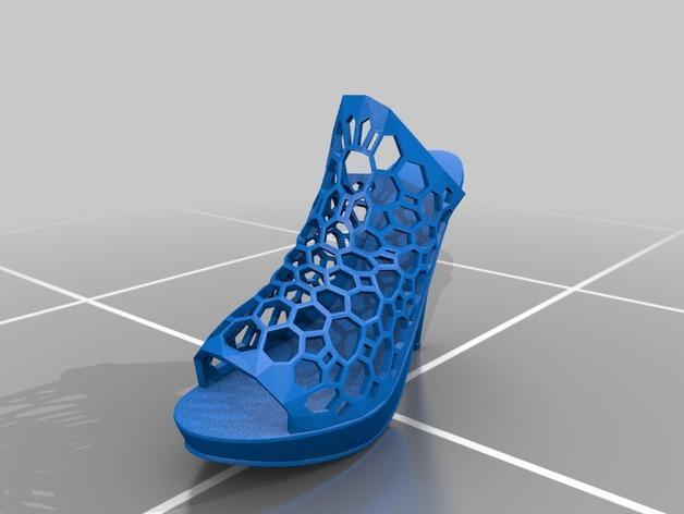 镂空高跟靴子 3D模型  图2