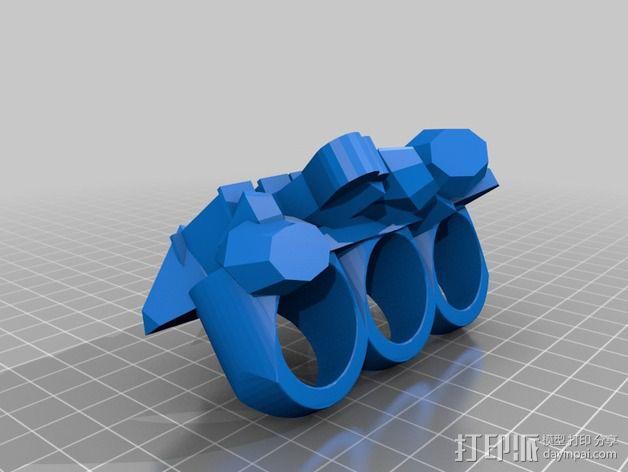 Ruth指节套环 3D模型  图2