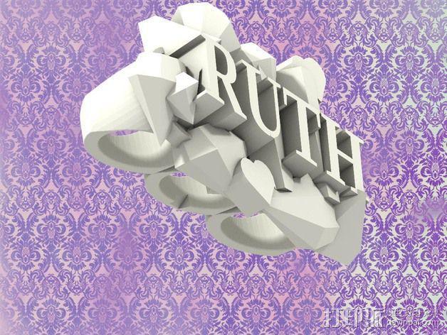Ruth指节套环 3D模型  图3