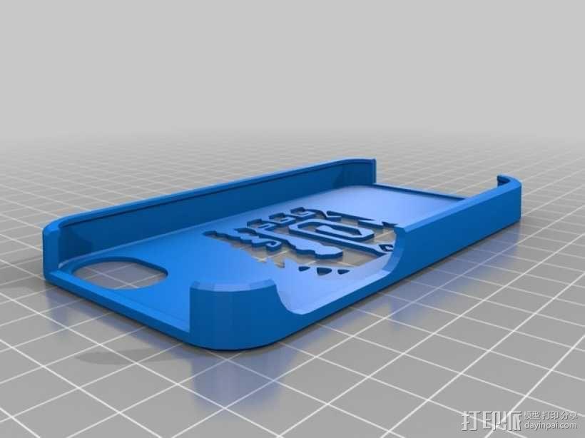 怪物猎人标志  Iphone 4手机保护壳 3D模型  图1