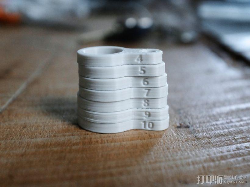 戒指尺寸量度环 3D模型  图2