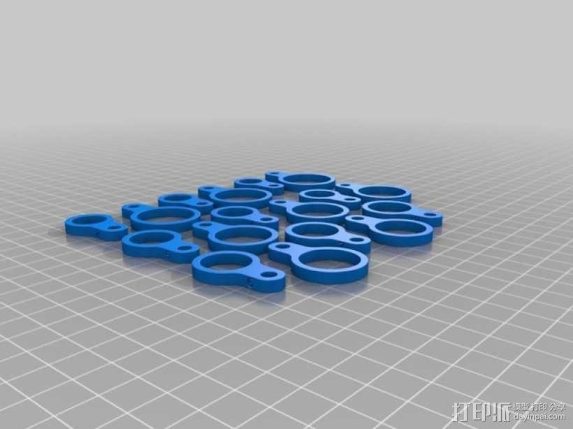 戒指尺寸量度环 3D模型  图6
