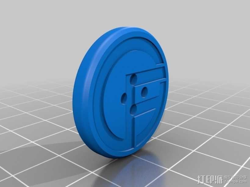 纽扣 3D模型  图4