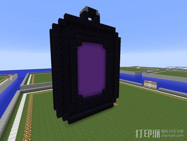 传送门 项链坠 3D模型  图1