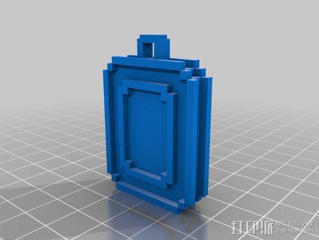 传送门 项链坠 3D模型  图2