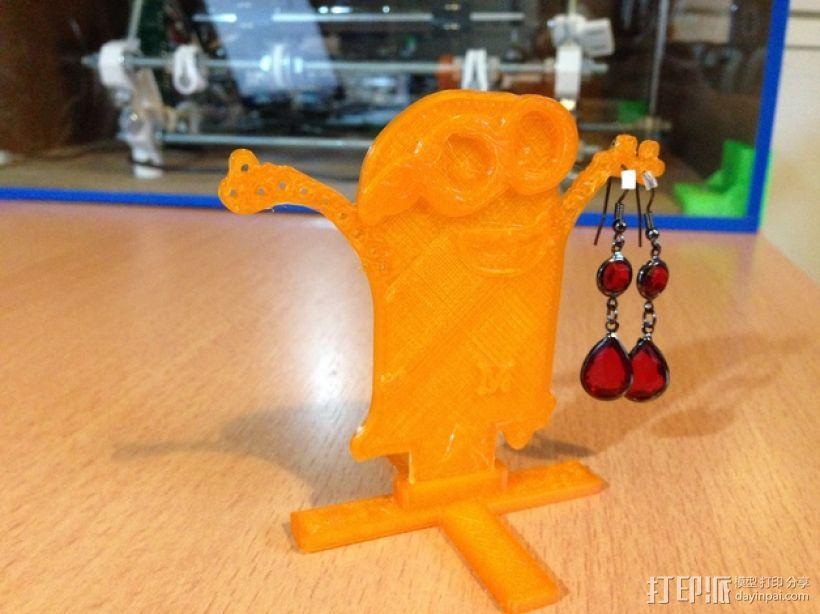 小黄人耳坠架 3D模型  图1